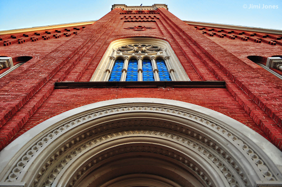 Arch on church - Vertical View
