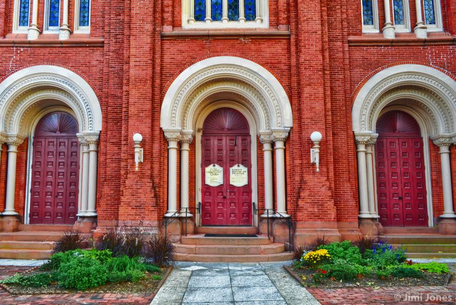 Arches on a church