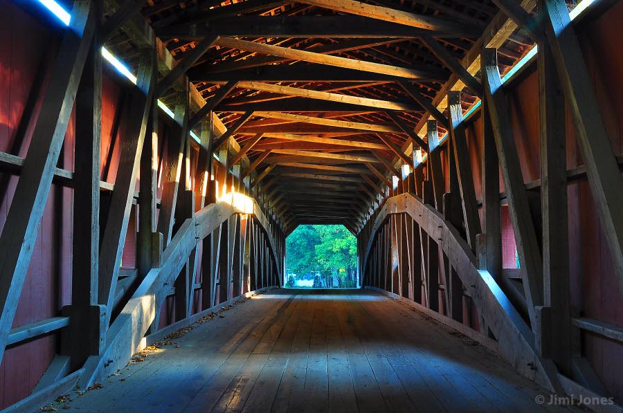 Covered Bridge - Pequea Creek - Inside Detail