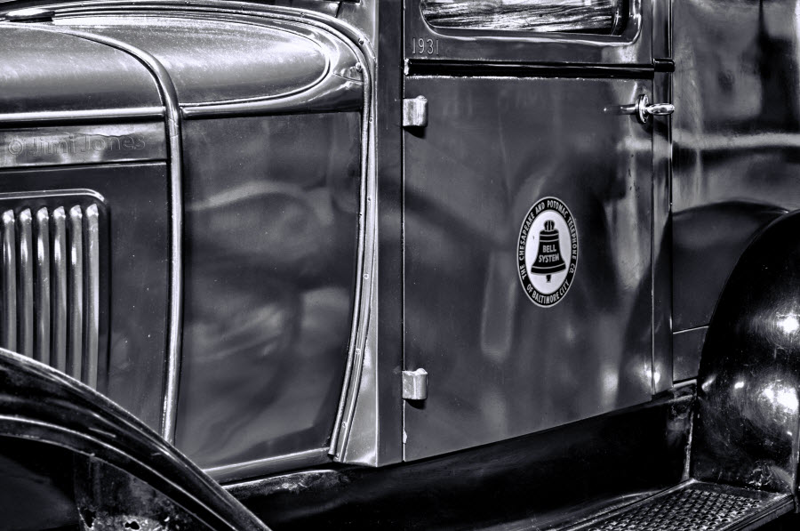 1931 Ford - Side View - B&W