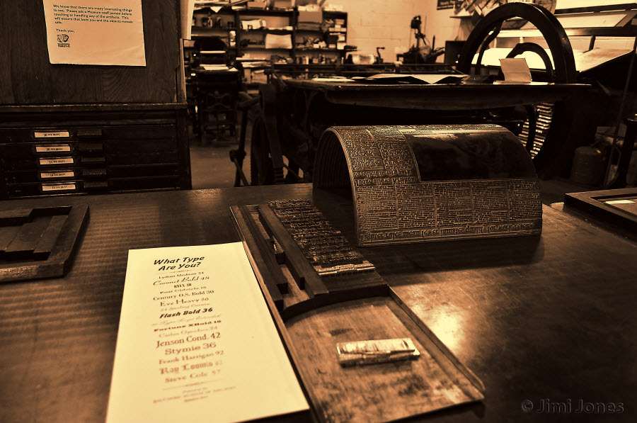 Typesetting Tools of the Trade - Sepia and Gold Blend