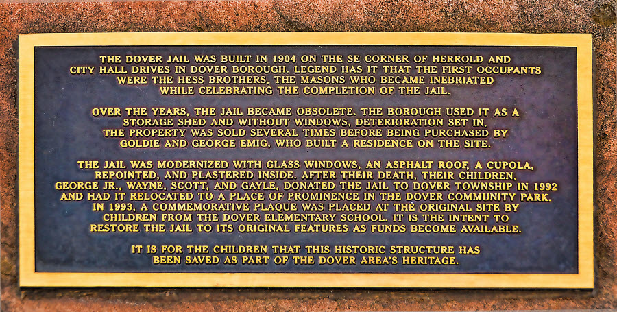 Dover Jail - history plaque