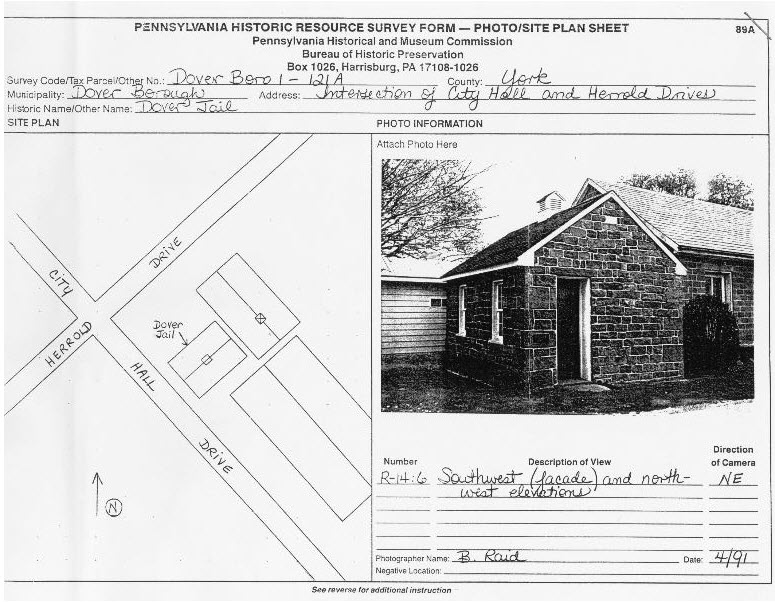 Dover Jail Site Plan