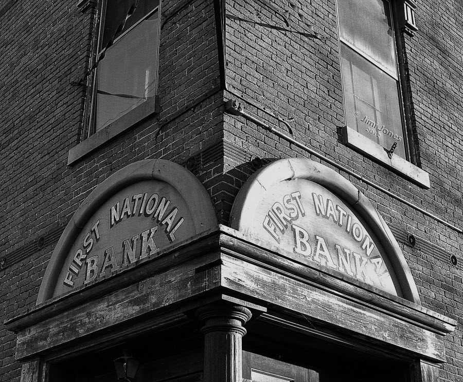 First National Bank Museum - B&W