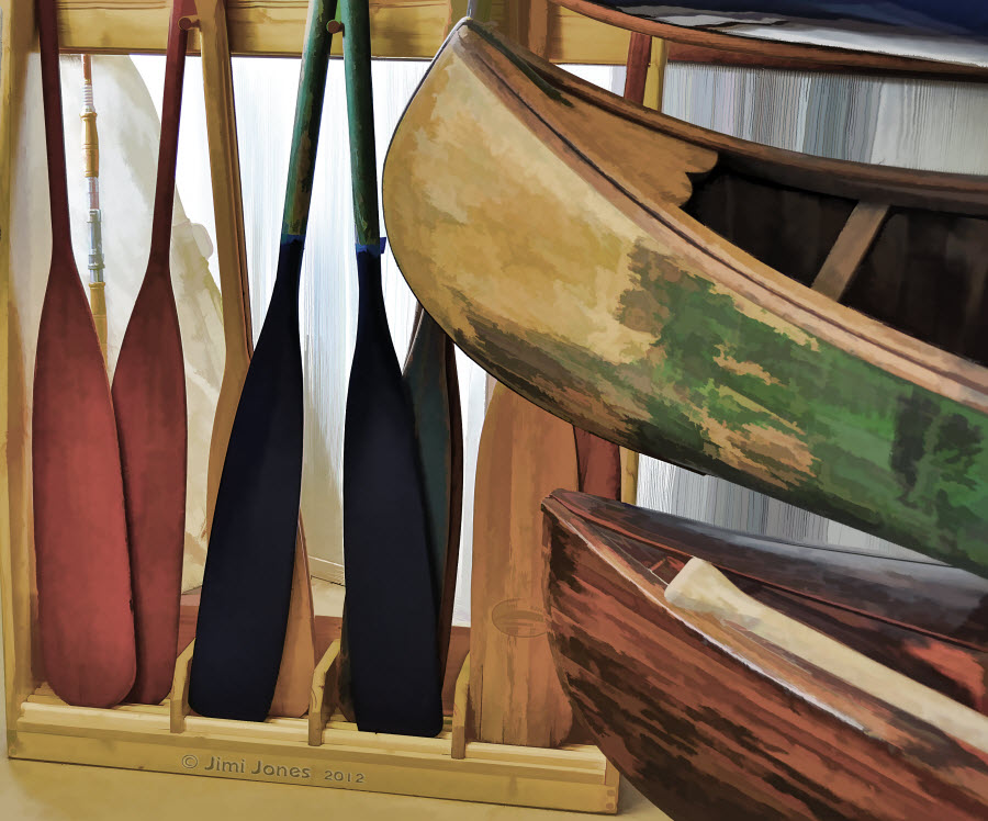 Oars and Canoes - Painterly Look