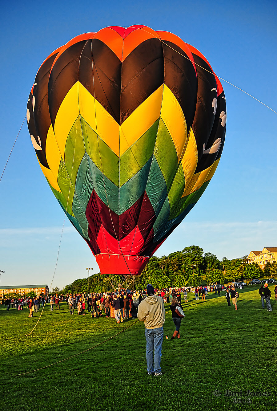 Hot Air Ballooning - Fully Inflated