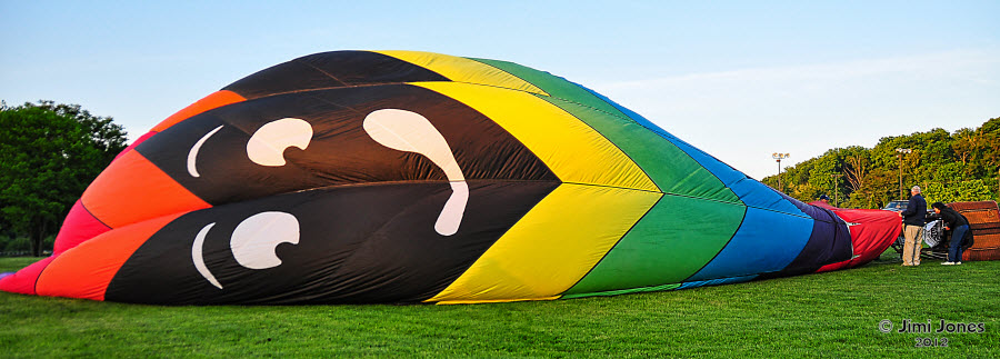 Hot Air Ballooning - Partially Inflated