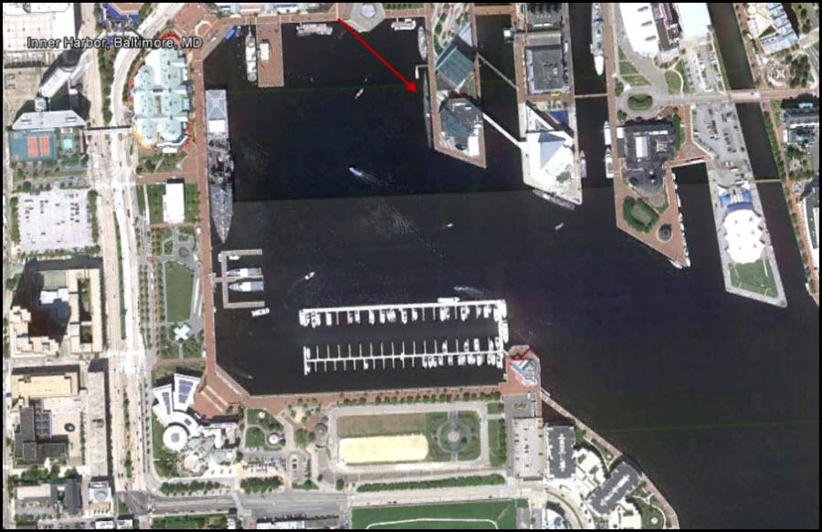 USS Torsk shot position