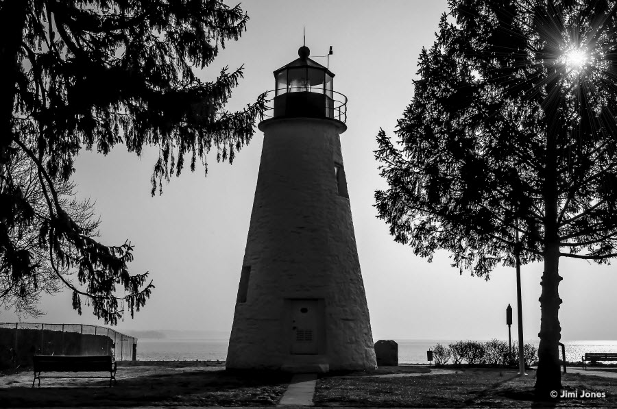 Concord Point Light - B&W