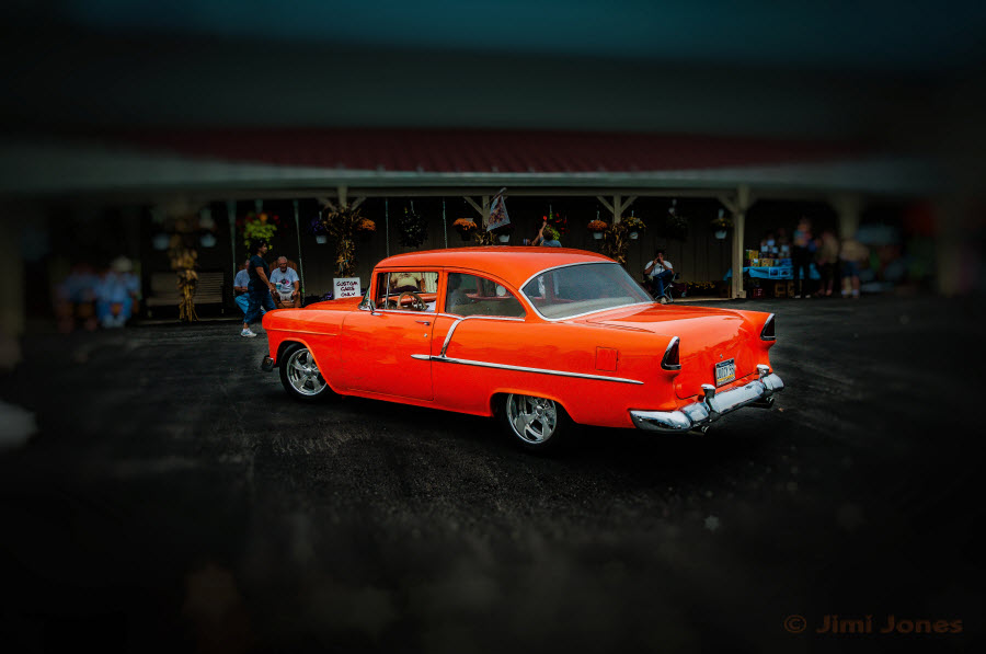 Orange 1957 Chevy