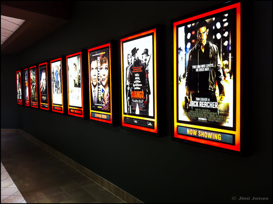 "Photo of ""Now Playing"" at the movies lightboxes"