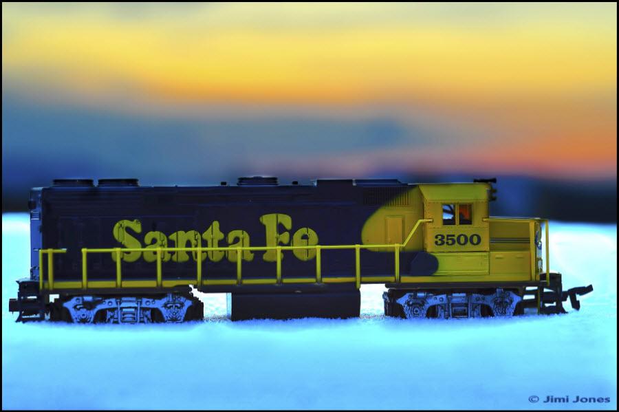 Santa Fe 3500 HO model train