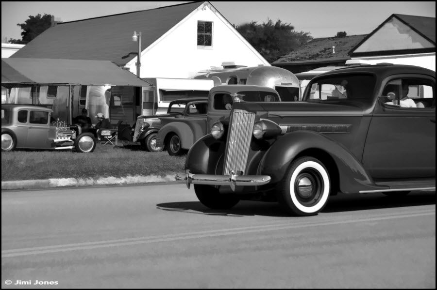 Old School Cars in B&W