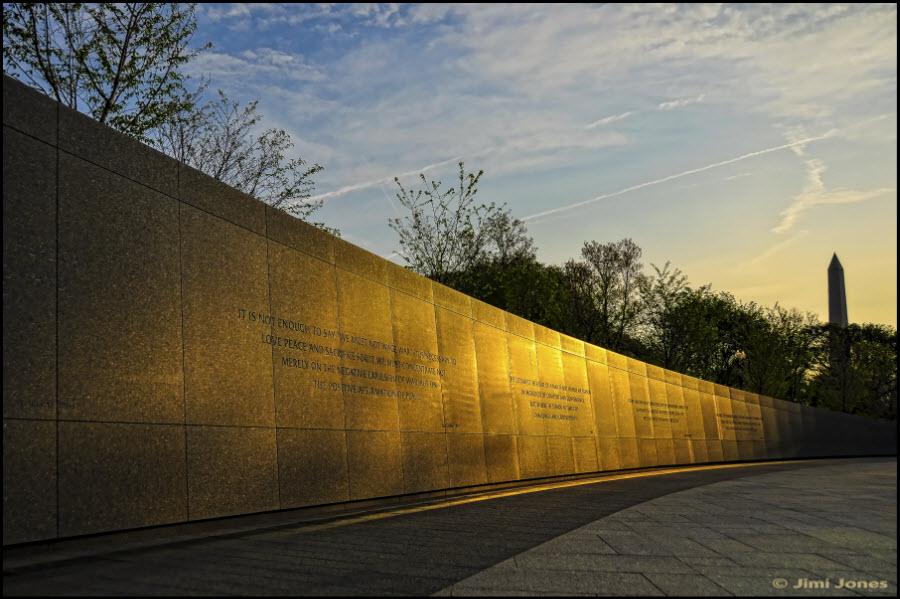 Wall of quotes at the MLK Jr. Memorial