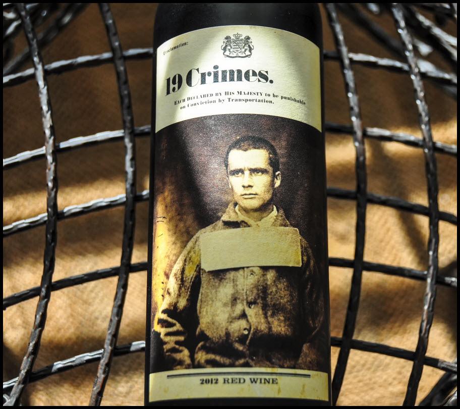 19 Crimes Wine Bottle