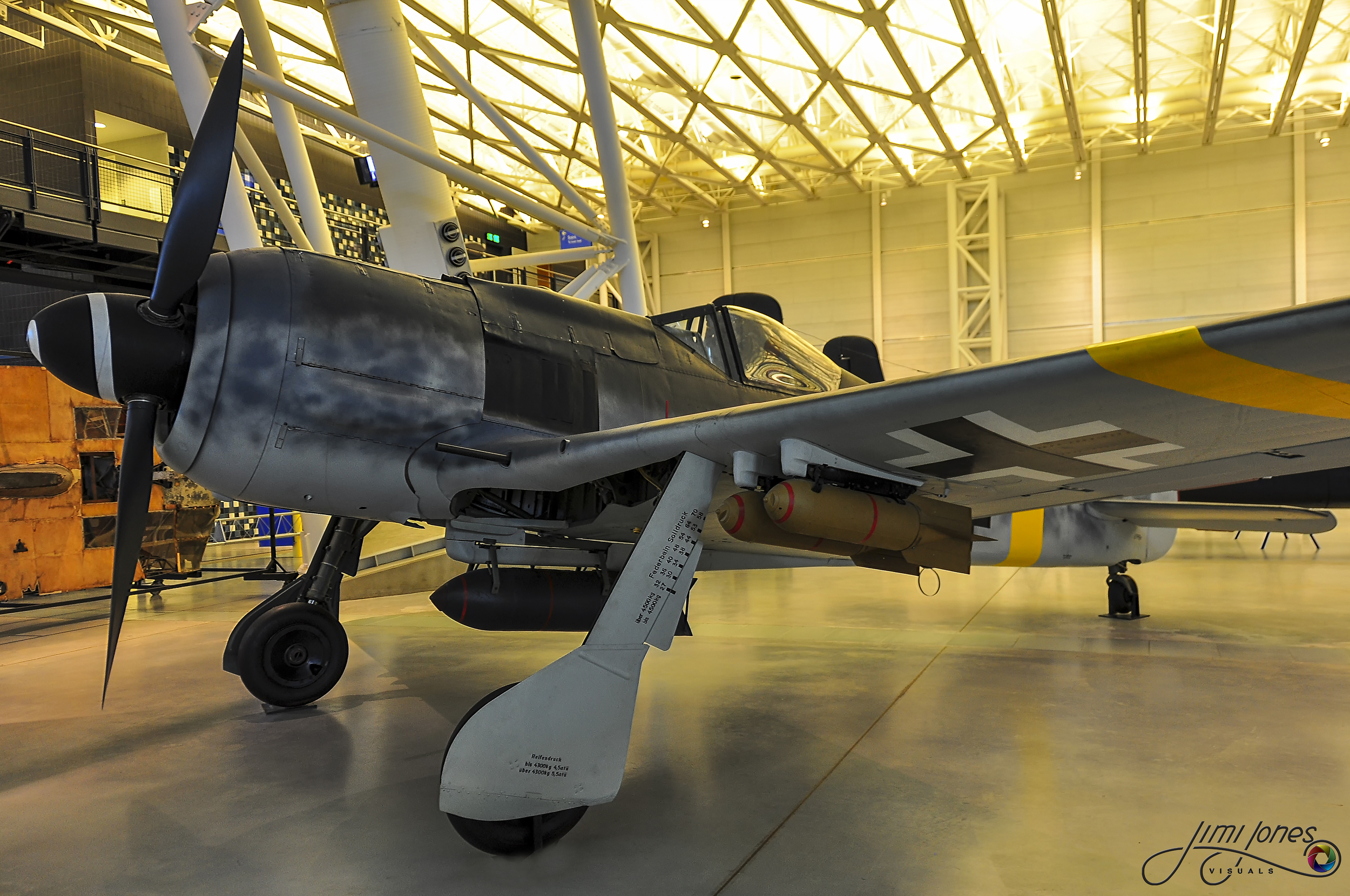 A restored Fw 190 F-8, as seen in the Air & Space Museum, Chantilly Virginia.