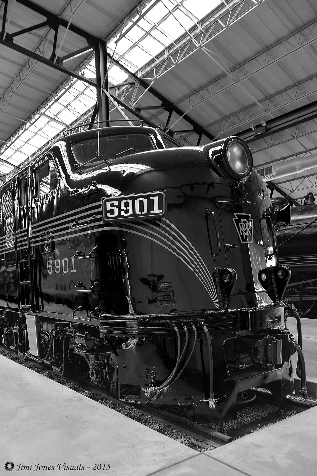 Pennsylvania Railroad 5901 - Front View in B&W