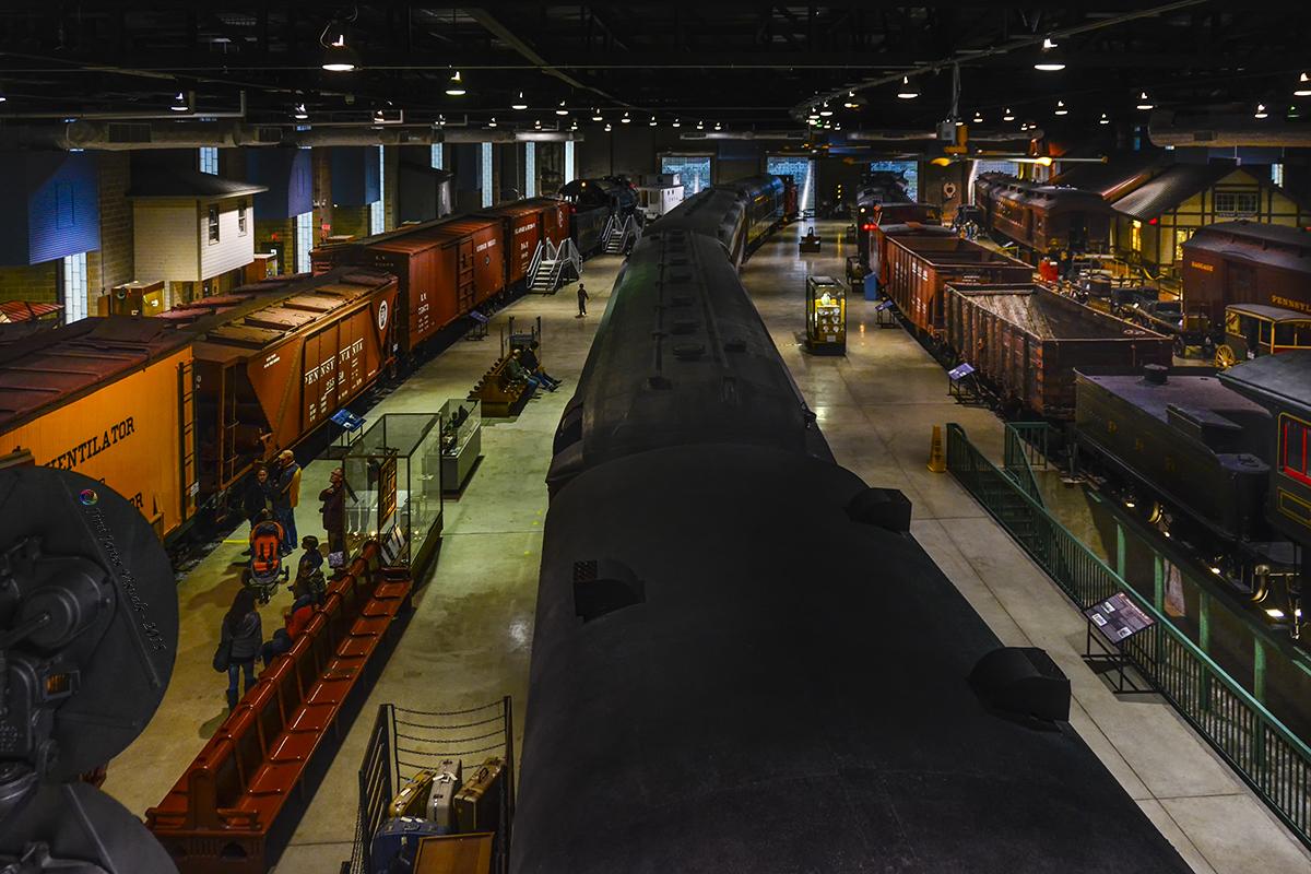 Pennsylvania Railroad Museum - Overhead View