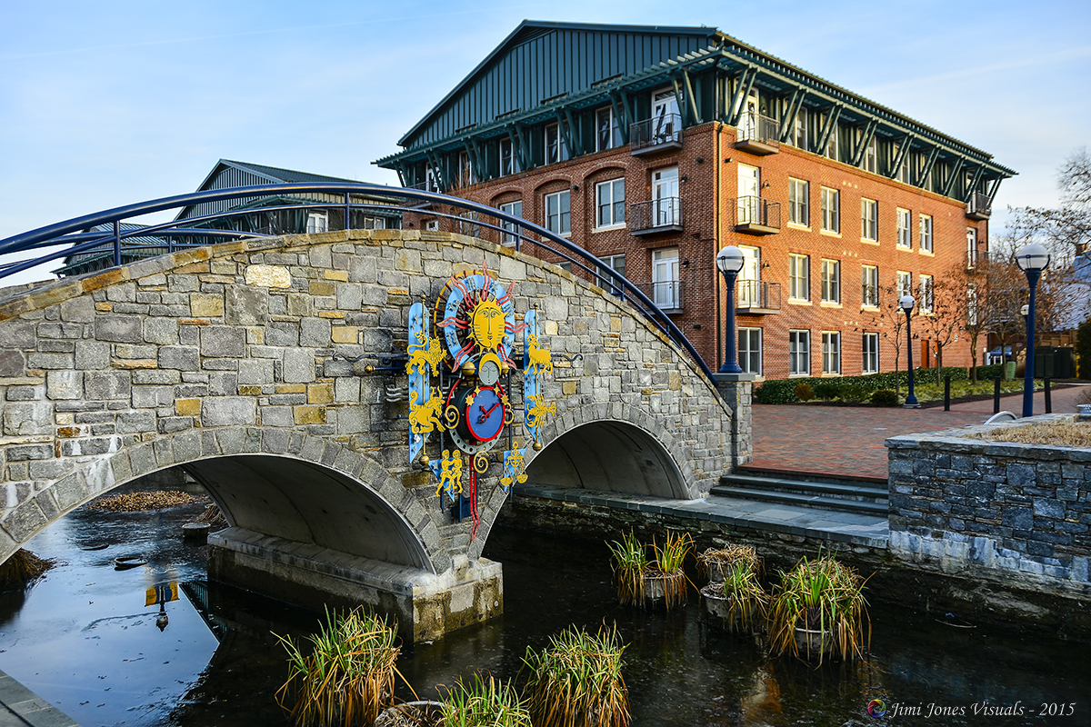 Footbridge Across Frederick City Canal