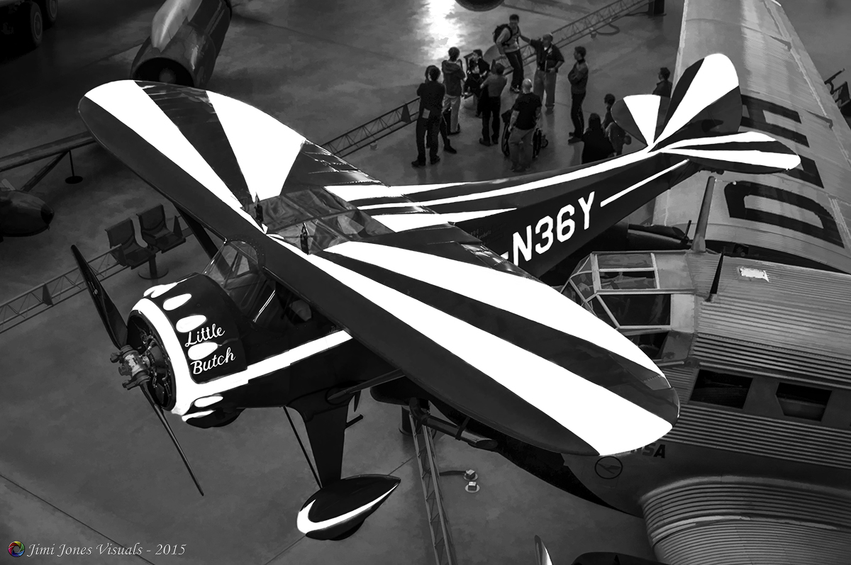 Little Butch - Monocoupe 110 Special in Black and White
