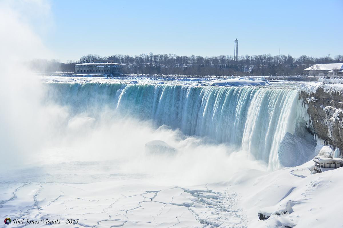 Section of the Horseshoe Falls in Ontario Canada