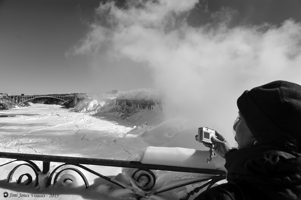 Capturing the Moment - Black and White Photo
