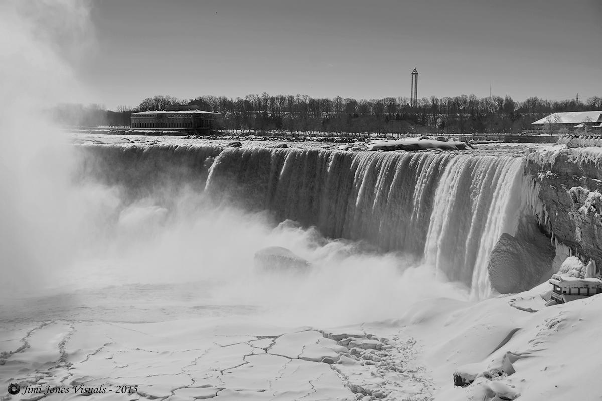 Horseshoe Falls - Niagara Falls - Black and White Photo