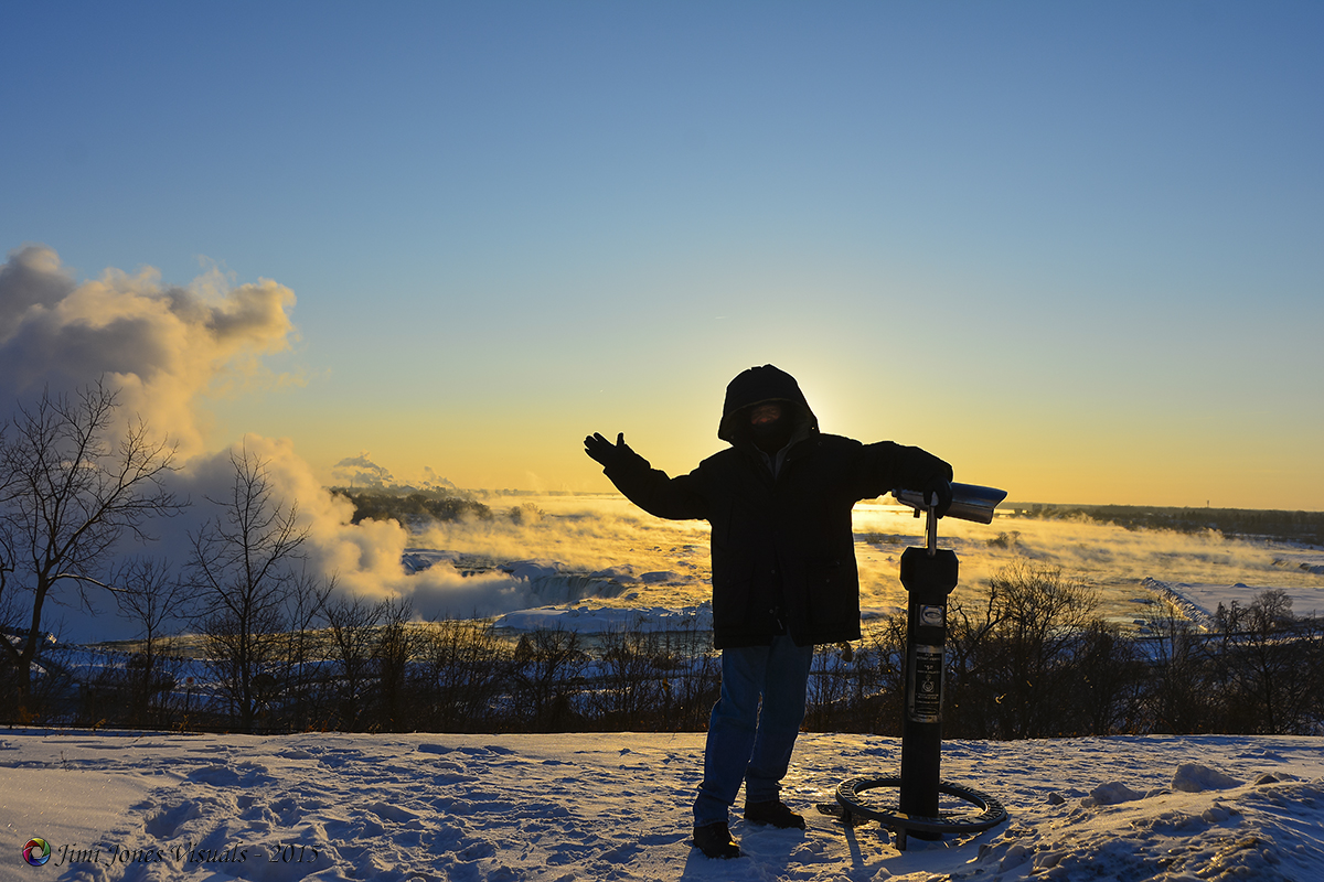 Selfie at Niagara Falls Ontario Canada