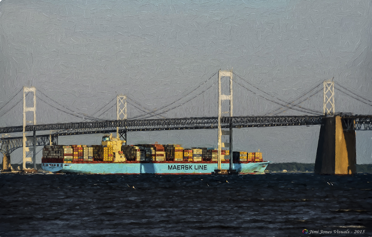 Maersk Line Container Ship - Topaz Labs Finish - Jim LaSala