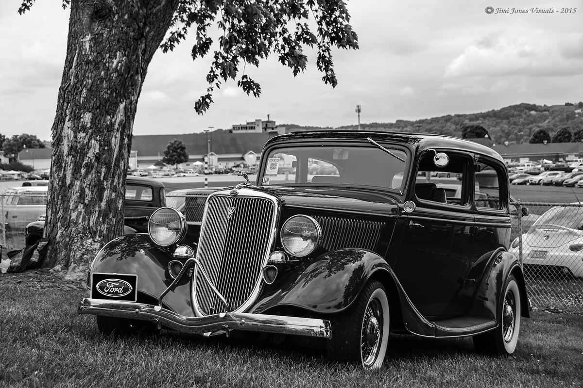 1934 Ford Coupe - Black and White Photo