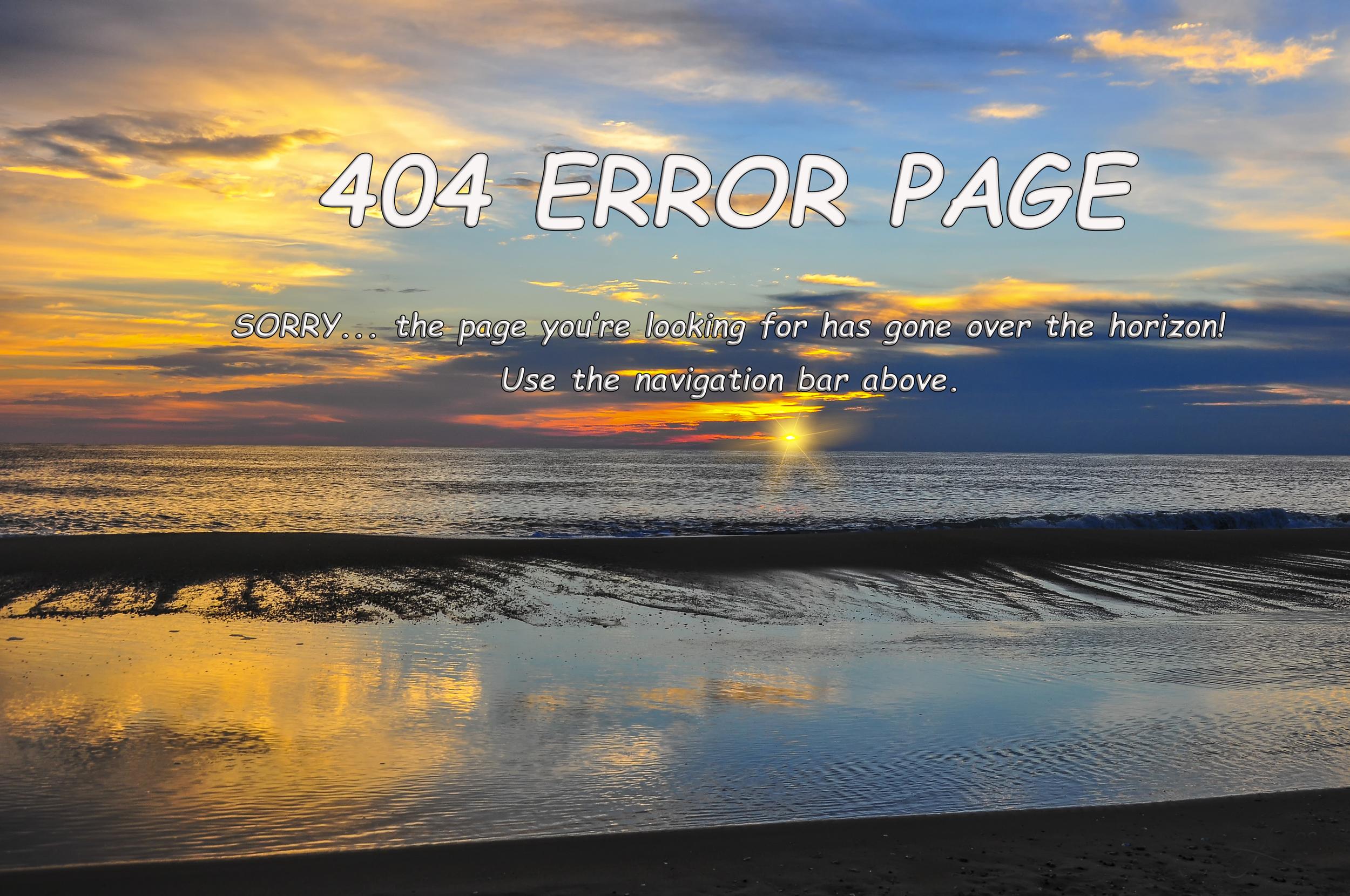 404 Error Page - JJV