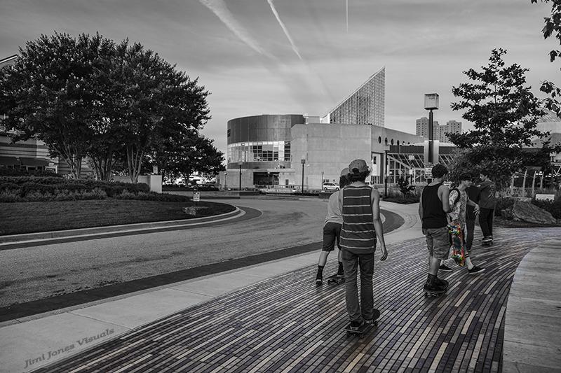 Skateboard Kids - Baltimore Inner Harbor near National Aquarium - 2014