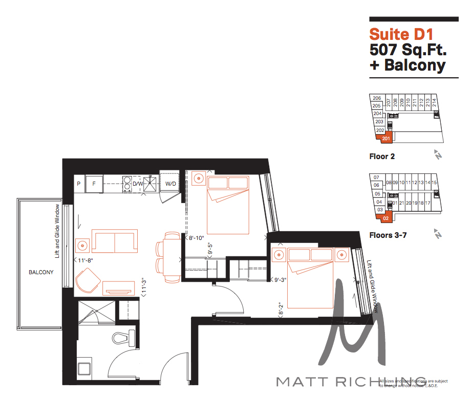 The D1 unit, the smallest two bedroom inside Smart House Ottawa.