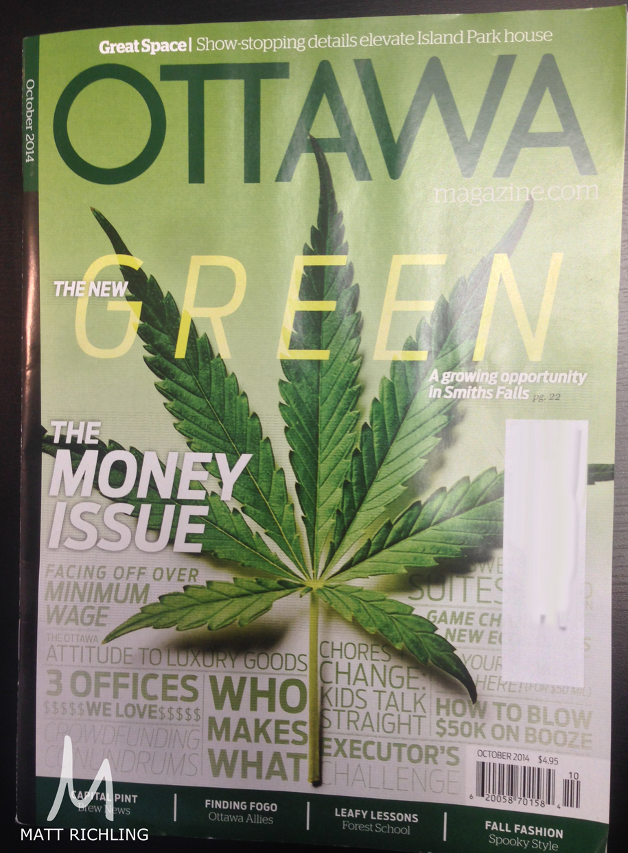 Front cover of Otttawa Magazine which hits new stands