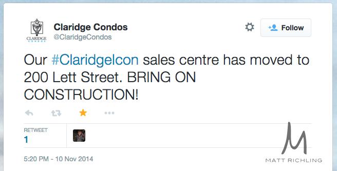 Claridge Icon Tweet