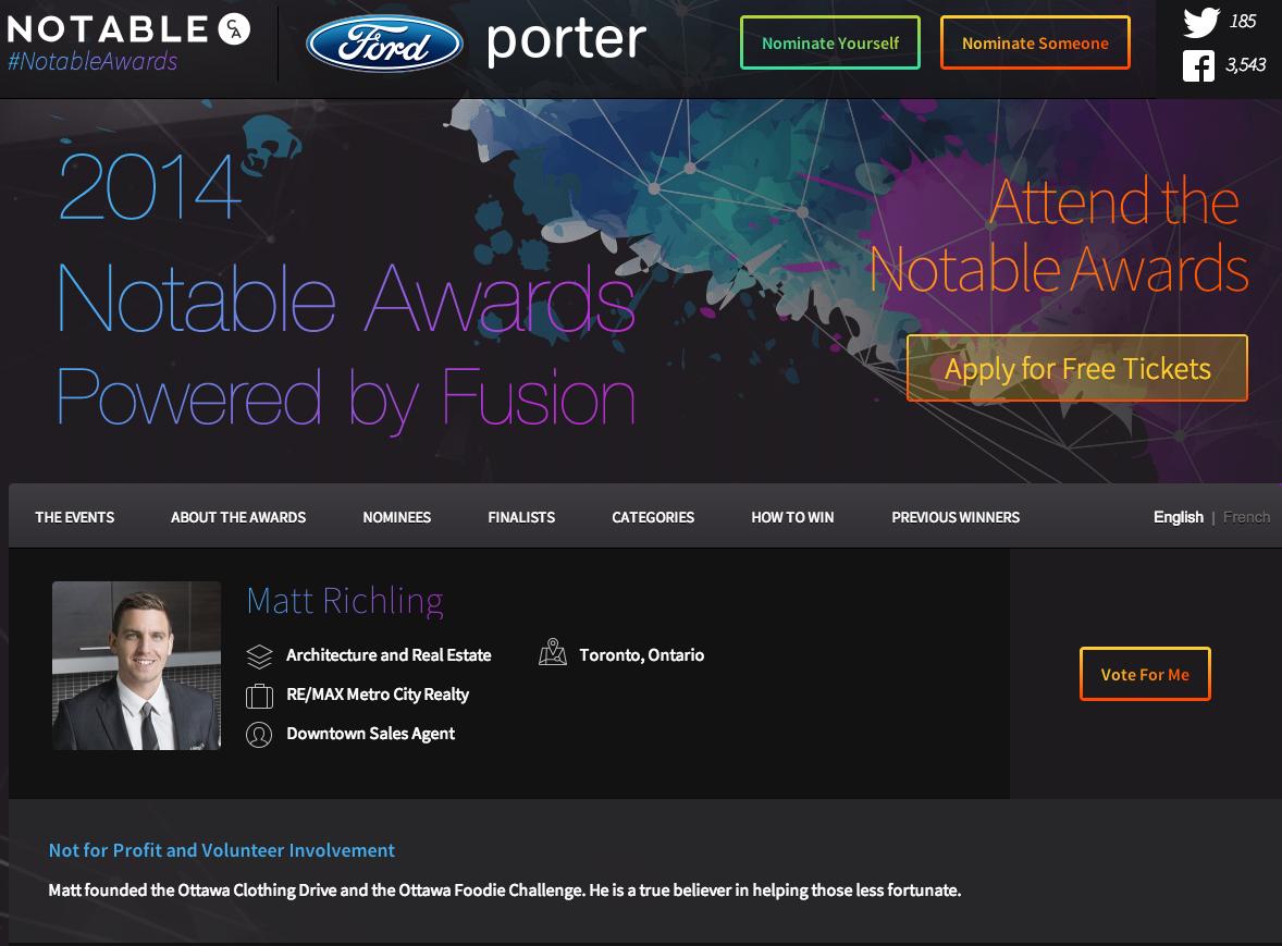 Matt Richling Notable Awards