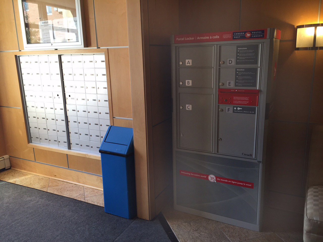 Ottawa Condo Canada Post Parcel Box