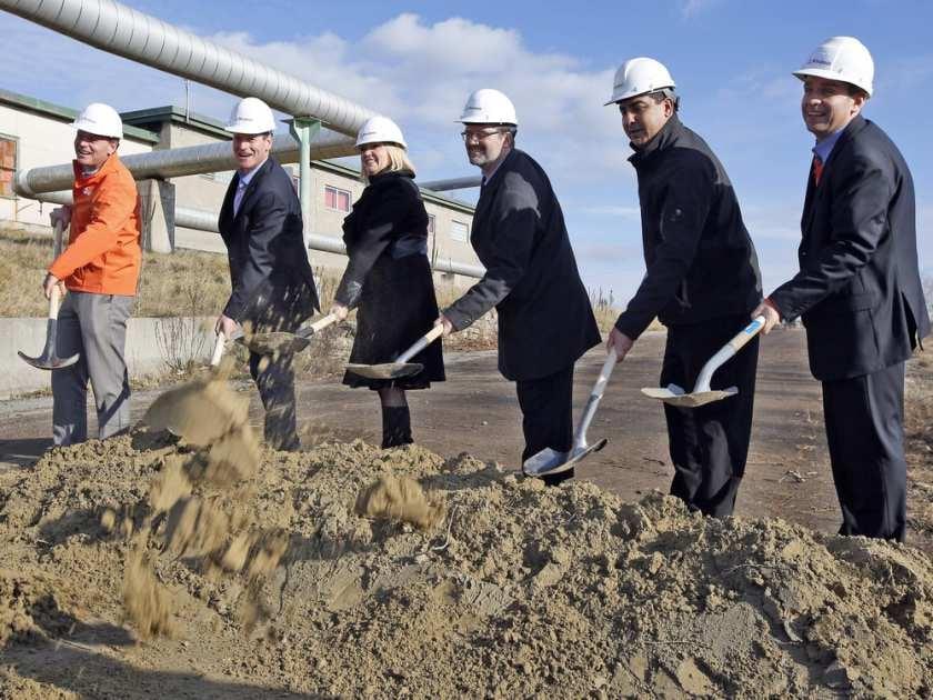 Zibi Construction Ground Breaking Ceremony - Darren Brown / The Ottawa Citizen