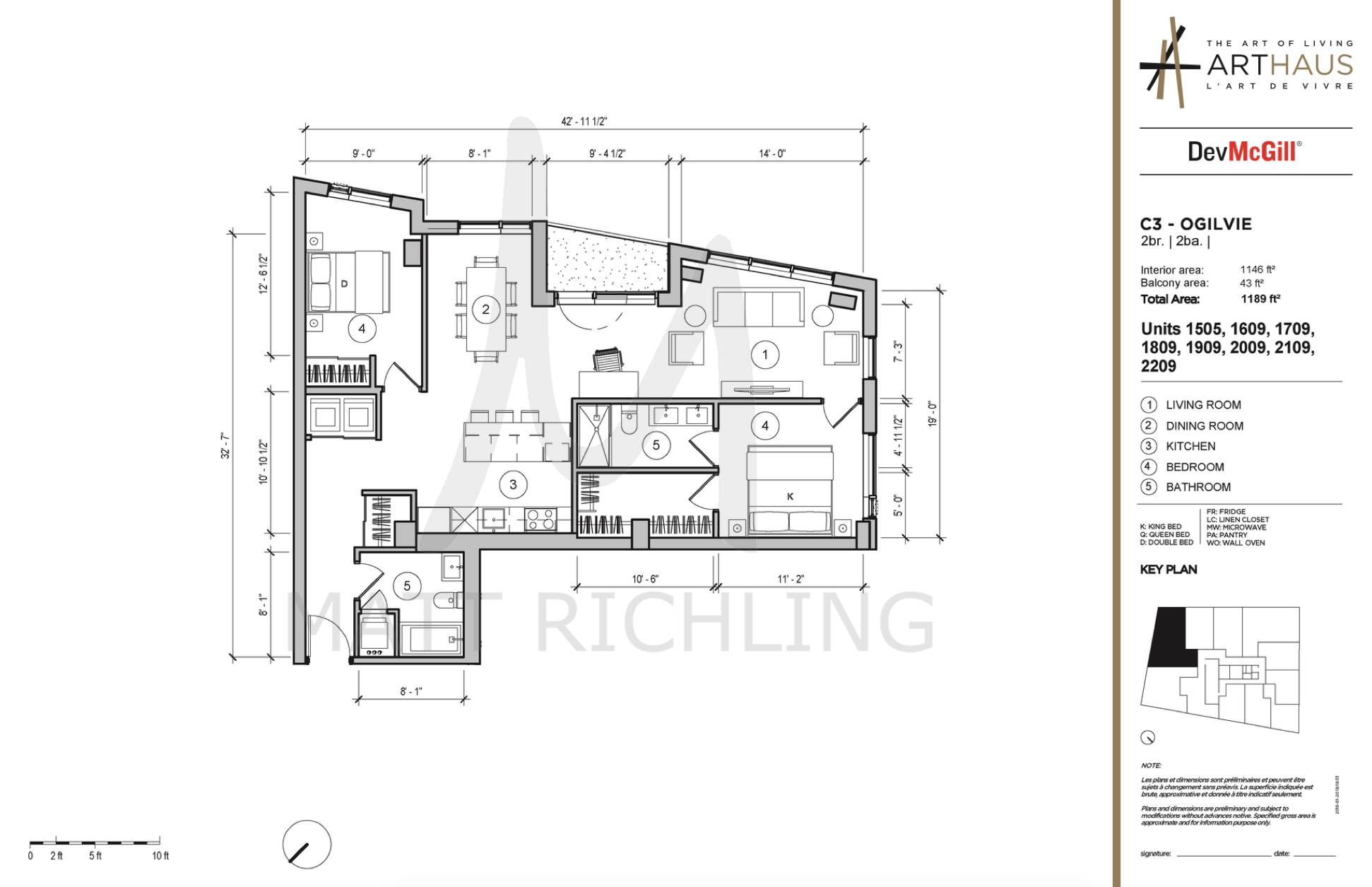 Arthaus Condos Ottawa Floorplan Ogilvie