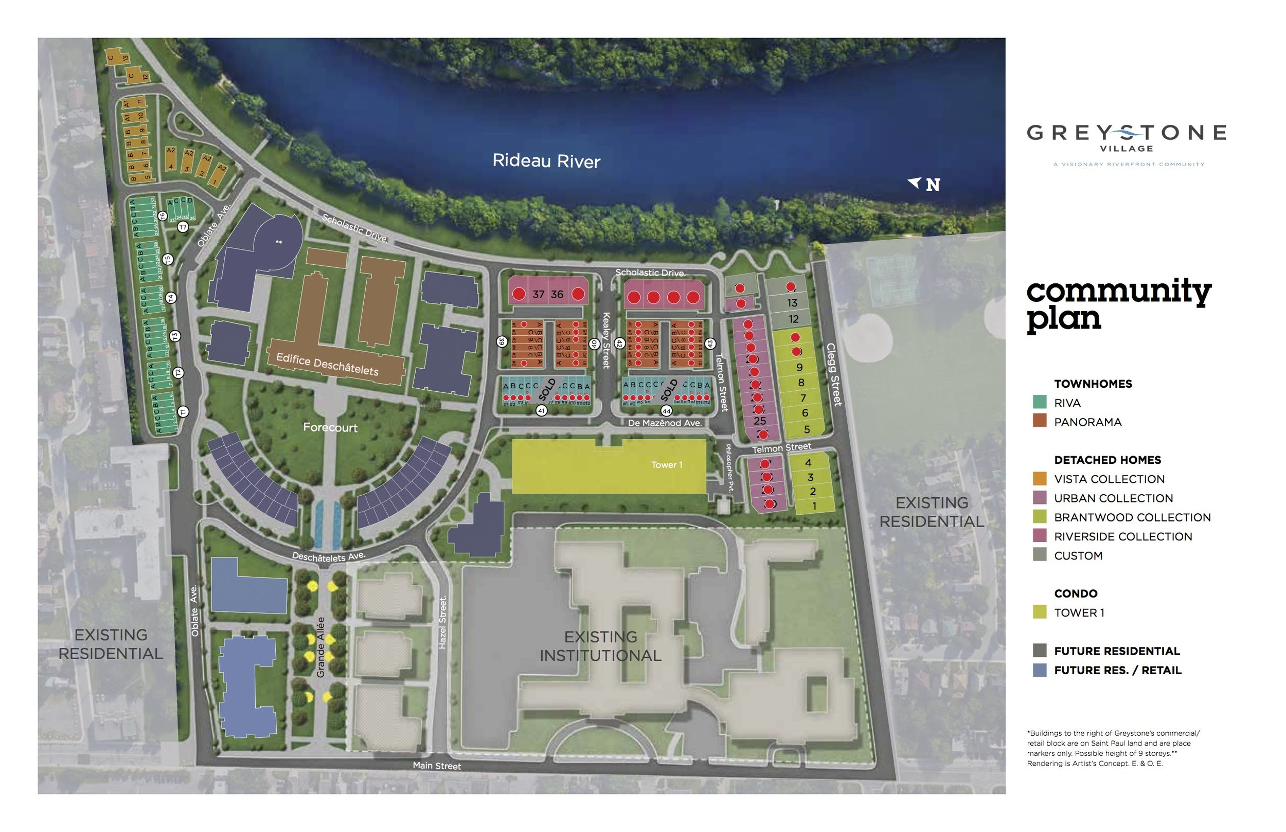 Greystone Village Community Site Plan
