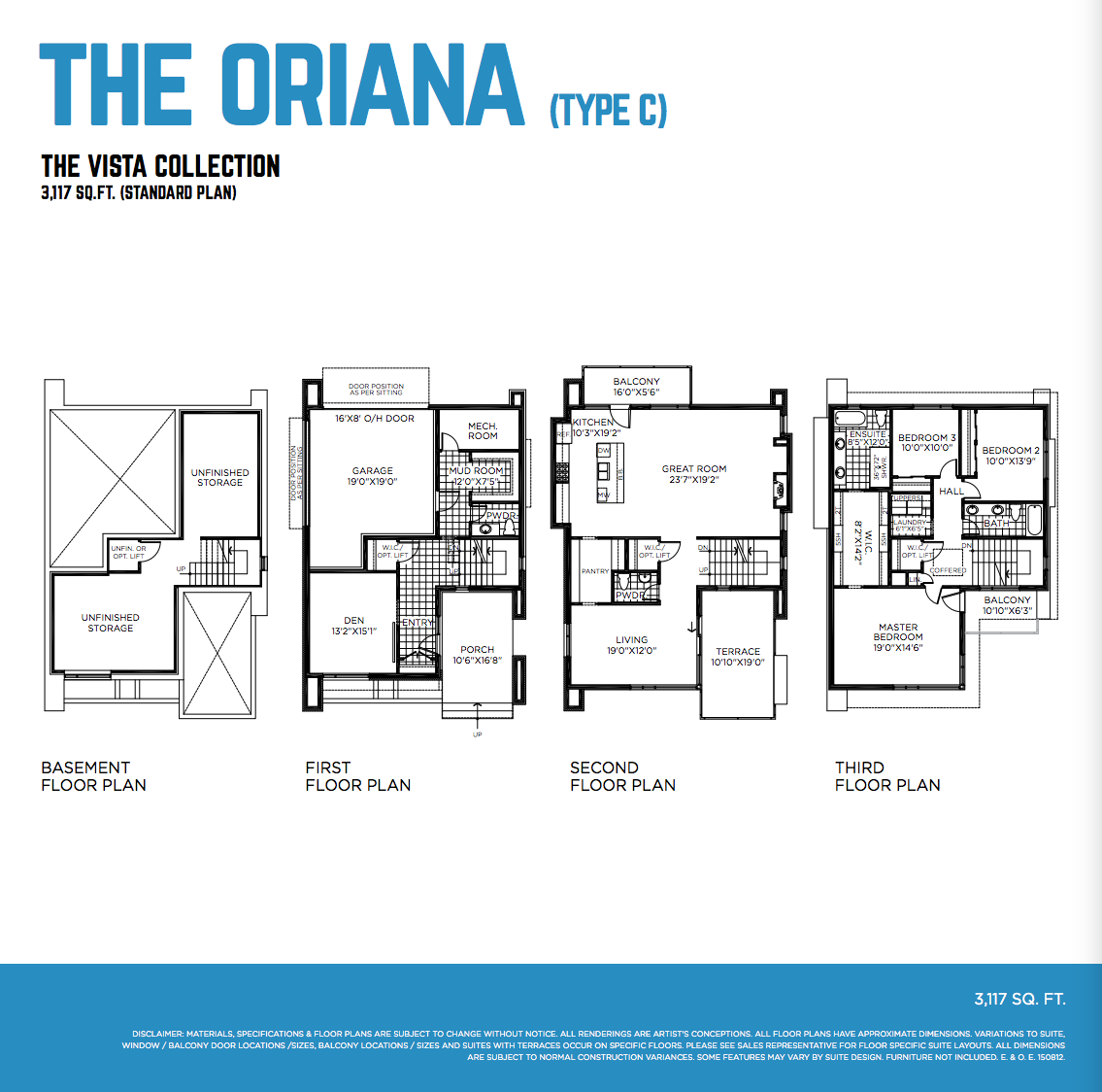 The Oriana Floorplan Northshore Greystone Village Ottawa