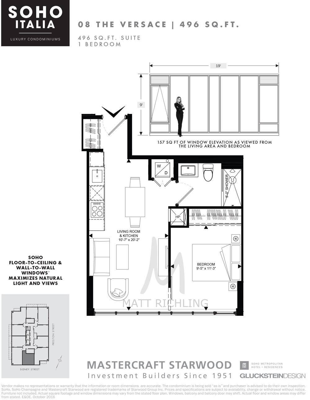 Soho Italia Condos Ottawa Versace Floorplan