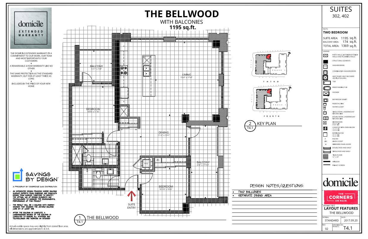 Bellwood Floorplan Corners On Main Ottawa Condo