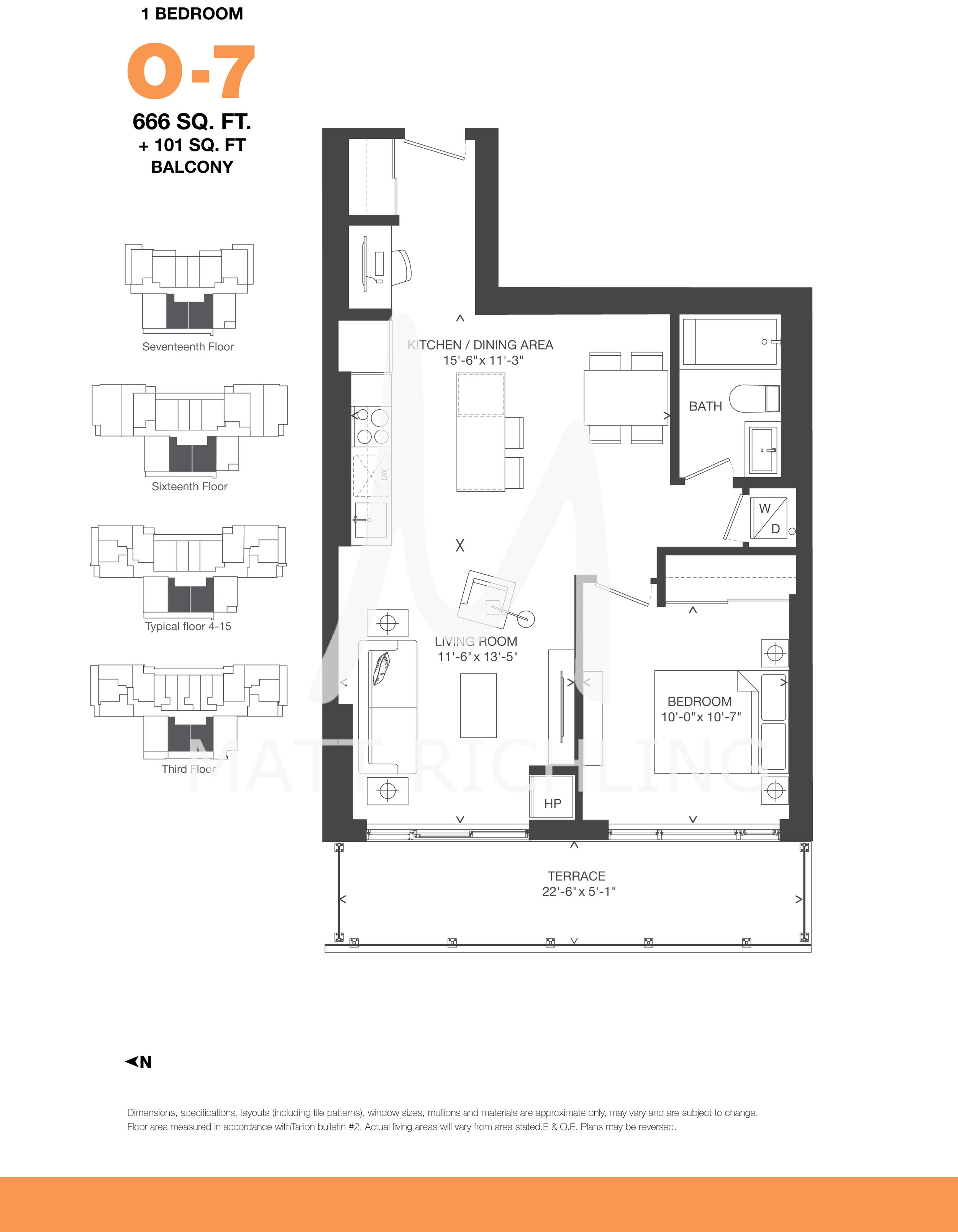 """O7"" Floorplan at The Bowery"