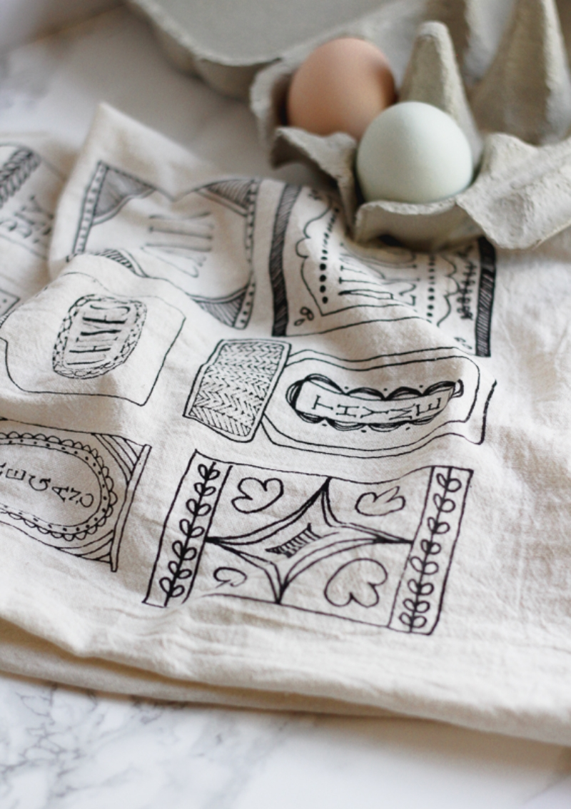 Click to shop vintage inspired spice tea towel
