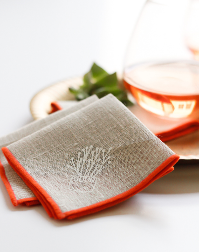 click to shop cactus printed cocktail napkins