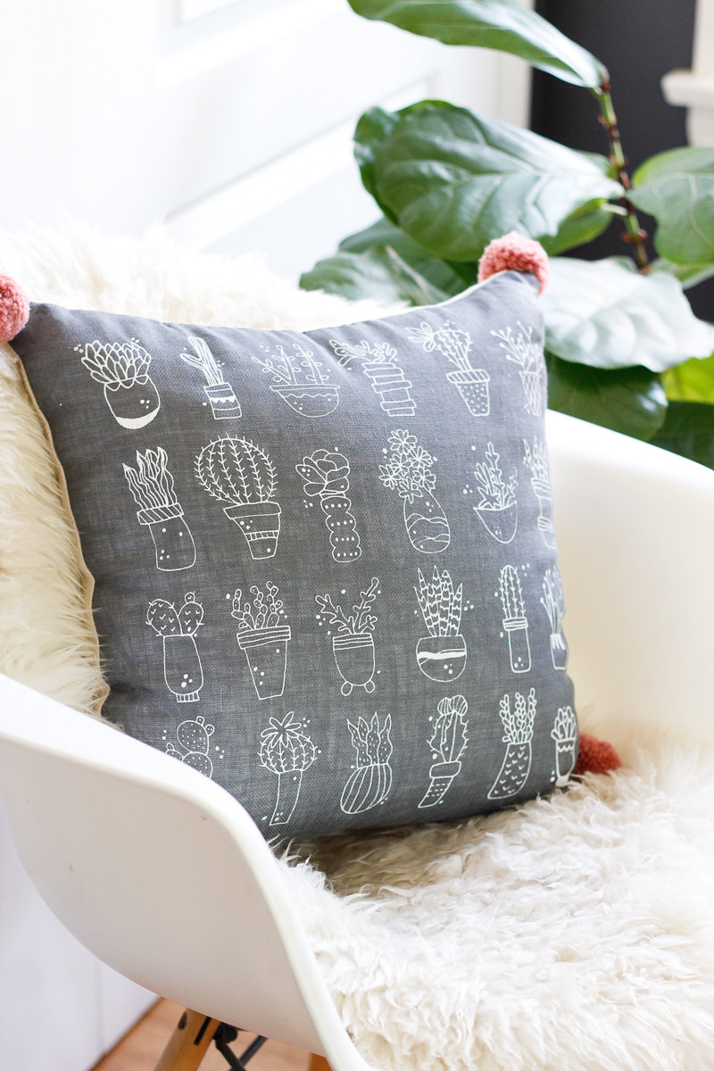 Cactus Throw Pillow Via Very Sarie Shop