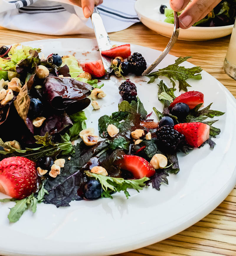 Berry and wild greens Salad at Deer Lodge- Ojai California