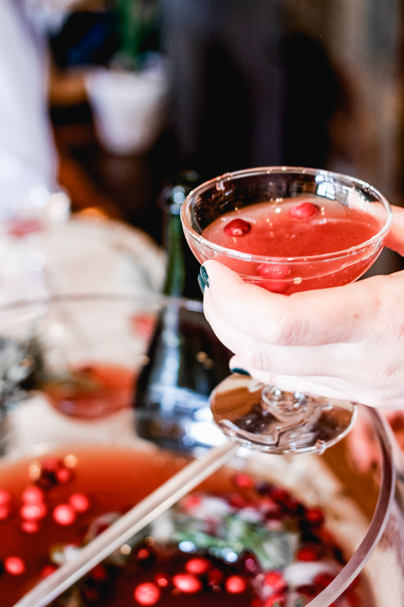 holiday punch recipe cranberry lavender