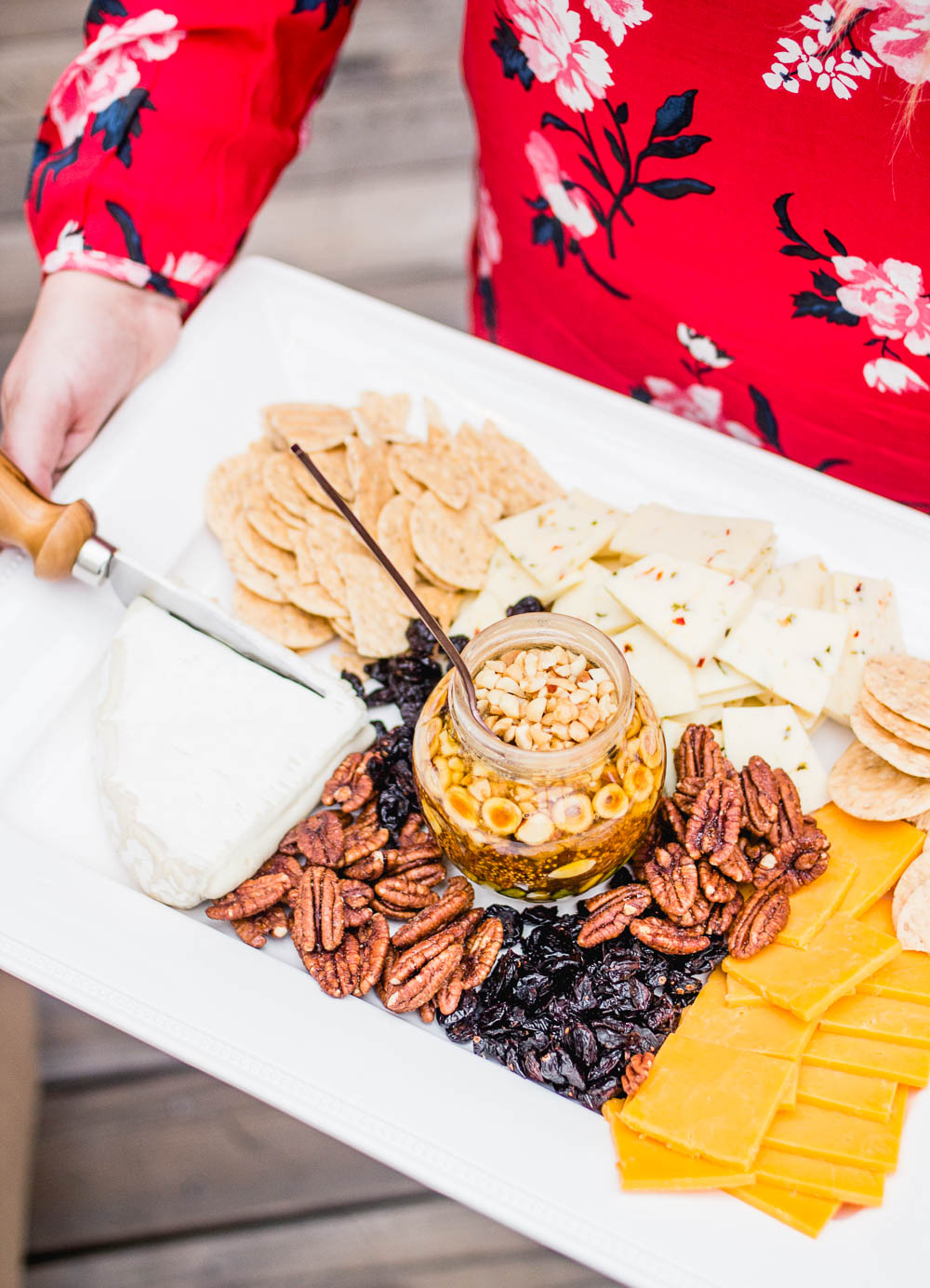 holiday party cheese tray